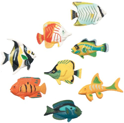 Darice Creatures Inc Plastic Creatures: Tropical Fish 14/Pkg