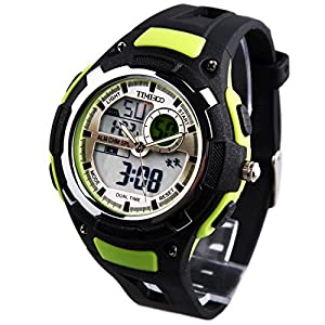 TIME100 Multifunction LED Dual-time Display Green Outdoor Sports Digital Watch #W40071M.04A