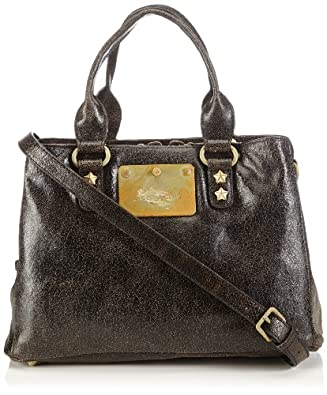 Liebeskind Berlin Cracked Leather Charlize Top Handle Bag,Black,One Size