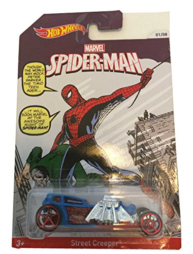 2014 Hot Wheels Marvel Spiderman Street Creeper 01/08