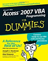Access 2007 VBA Programming For Dummies ebook download