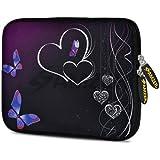 Amzer 7.75 Inch Neoprene Sleeve Night Love For Samsung GALAXY Tab 2 7.0, Google Nexus 7, Amazon Kindle Fire HD...