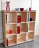 Fimel - espositore libreria in multistrato betulla sp.12mm misura L.102 X L102 X P. 30 CM