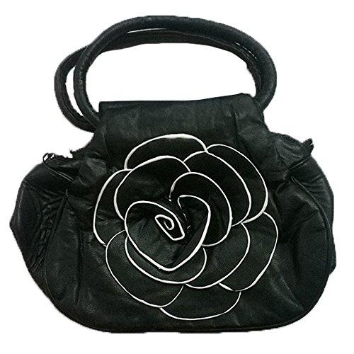 Stylish Rose Design Girls Cross Hand Bag Clutch Money Purse For