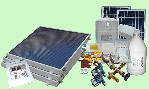 Complete 3 Panel Gh Type Freeze Protected Hybrid Solar Water Heater Kit