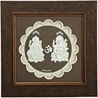 Mahajewel Silver-Plated Ganpati And Lakshmi Photo Frame (50 Cm X 15 Cm X 2 Cm, MJ24)