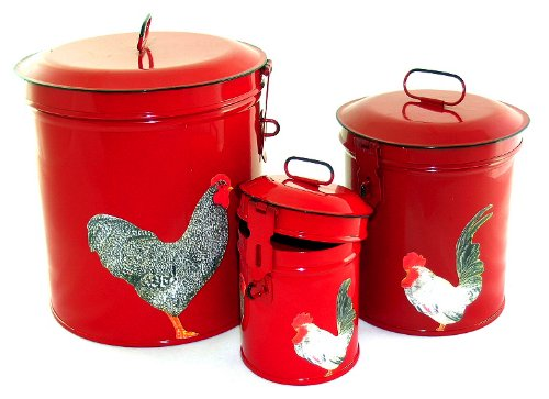 Vintage Country Canister Set Kitchen Storage Canisters