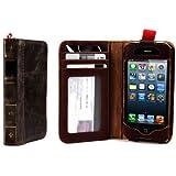 Alienwork Schutzh�lle f�r iPhone 5/5S/5C Retro Brieftasche H�lle Case Sto�fest Portemonnaie Leder braun AP507-02-R1