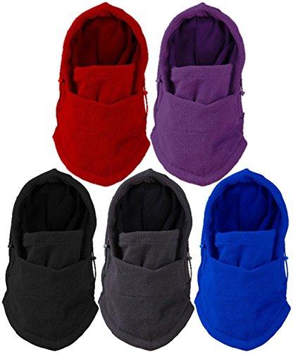 【全5色】 防寒 対策 の必需品 多機能 6way フェイス マスク & ネック ウォーマー  スキー スノボー ウィンター スポーツ や バイク での ツーリング の際にぜに グレー