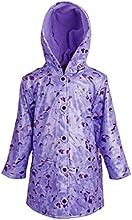 Wippette Little Girls Waterproof Hooded Fleece Lined Floral Parka Rain Jacket