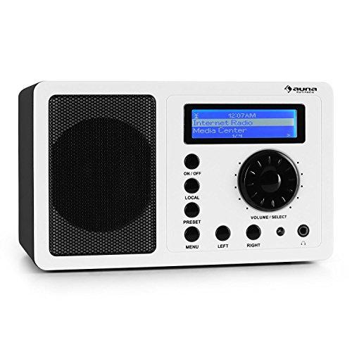 Auna IR-130 Internetradio Wifi Radio W-LAN (Musik Streaming über Wlan/Internet, 8000 Internet-Radio-Stationen, Fernbedienung) weiß