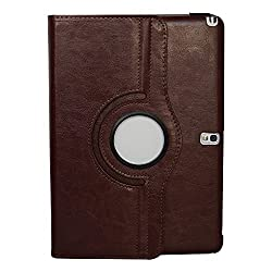 HOKO Brown 360 Degree Horse Leather case cover for Samsung Galaxy Note 10.1 2014 Edition With Wake/Sleep Feature and card slot.