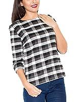 Katrus Camiseta Manga Larga K261 (Negro / Blanco)