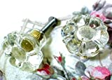 Vintage Style Glass Cabinet Drawer Knob Flower, Set of 6