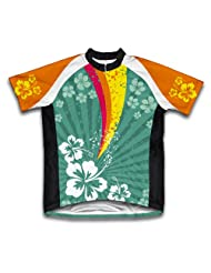 Tropical Fission Short Sleeve Cycling Jersey for Women