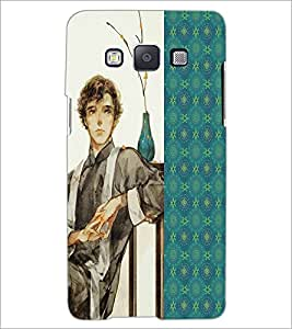 PrintDhaba Sitting Boy D-4751 Back Case Cover for SAMSUNG GALAXY E5 (Multi-Coloured)