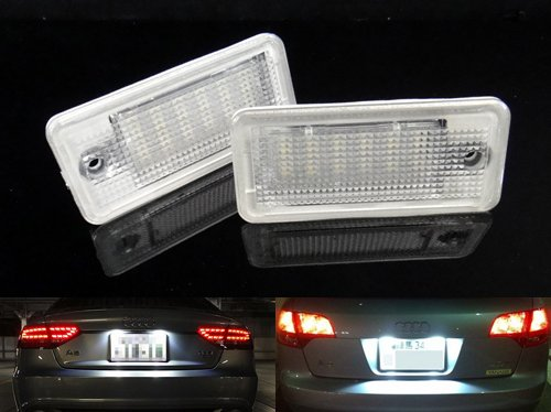 2x-audi-led-licence-number-plate-light-white-no-error-a3-s3-a4-b6-b7-s4-a6-a8-q7-luffy