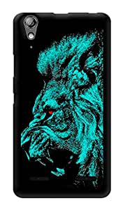 "Humor Gang Almighty Lion Printed Designer Mobile Back Cover For ""Lenovo A6000"" (3D, Glossy, Premium Quality Snap On Case)"