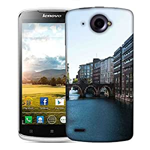Snoogg Lake View City Designer Protective Phone Back Case Cover For Lenovo S920