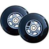 2 100mm BLACK Replacement WHEELS for RAZOR SCOOTER