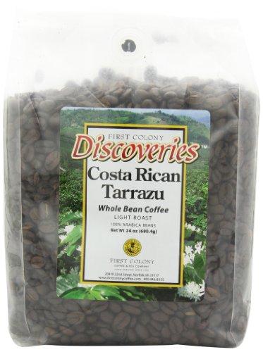 First Colony Whole Bean Coffee, Costarican Tarrazu, 24-Ounce