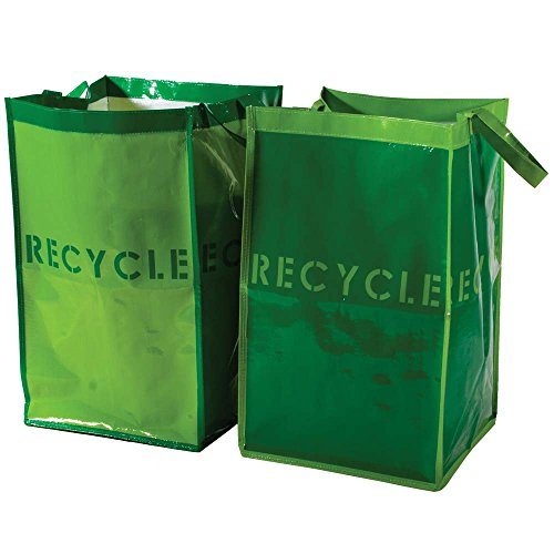 G.U.S. Recycle Bins for Home and Office - Set of 2. Waterproof Bags with Sturdy Handles (Divided Garbage Can compare prices)
