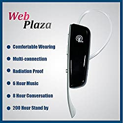 Aiek Mobile Compatible Bluetooth Headset with Volume Control Button