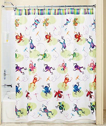 pretty dragonfly shower curtains.  Frog Dragonfly Bathroom Shower Curtain Decor