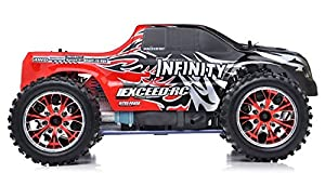 Exceed RC 1/10 2.4Ghz Infinitve Nitro Gas Powered RTR Off Road Monster 4WD Truck Sava RedSTARTER KIT Required and Sold Separately