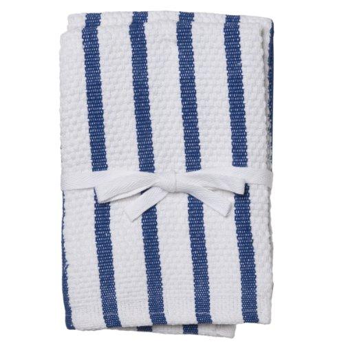 Gourmet Classics 14- by 14-inch Royal Blue Stripe