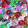 k2-accessories 200 pieces 4mm Crackle Glass Beads - Mixed - A1435
