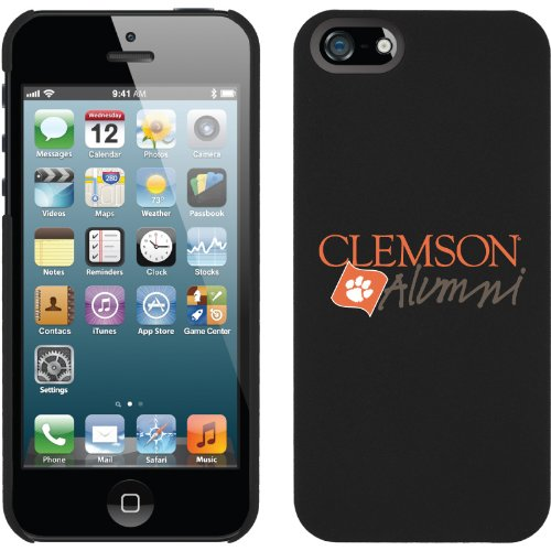Special Sale Clemson - Alumni Script design on a Black iPhone 5 Thinshield Snap-On Case by Coveroo