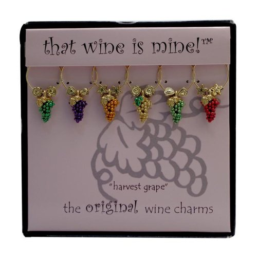 Wine Things WT-1465P Harvest Grape Wine Charms, Painted (Wine Grape Charms compare prices)