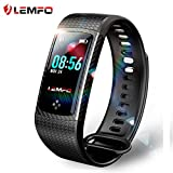 LEMFO Fitness Tracker Color Screen Heart Rate Monitor Swimming Waterproof Activity Tracker Smartband Sleep Monitor Pedometer Smart Bracelet Wristband for IOS Android