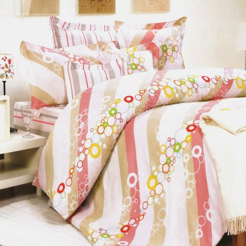 Blancho Bedding - [Pink Princess] 100% Cotton 4PC Comforter Cover/Duvet Cover Combo (Full Size)