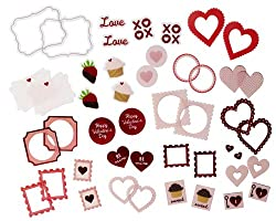 Martha Stewart Crafts Valentine Die-Cut Stickers, Includes 48 Stickers