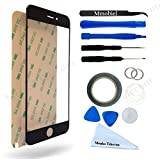 """IPHONE 6 Plus / 6S Plus 5,5"""" BLACK Display Touscreen Replacement Kit 12 Pieces Including 1 Replacement Front Glass For IPHONE 6 / A1549 A1586 6S / A1633 A1688 1 Pair of Tweezers / 1 Roll of 2MM Adhesive Tape / 1 Tool Kit / 1 Microfiber Cleaning Cloth / Suction Cup / Wire"""