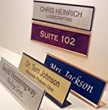 Personalized Office Name Plate With Wall or Desk Holder - 2x8 - Choose Font style and Colors