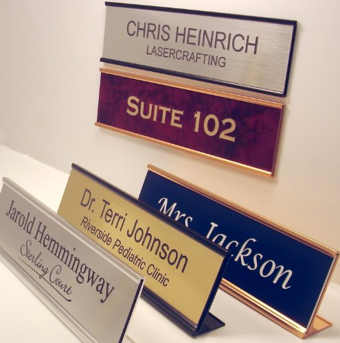 Personalized Office Name Plate With Wall or Desk Holder - 2x8 - CUSTOMIZE (Custom Office Name Plates compare prices)
