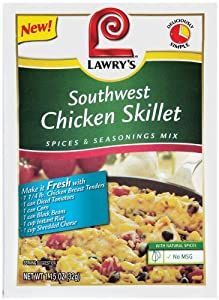 LAWRY'S Skillet Meal Solutions, Southwest Chicken, 1.15-Ounce (Pack of 12) by McCormick & Co