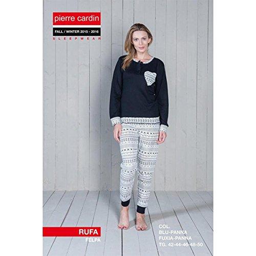 pigiama-donna-invernale-pierre-cardin-tessuto-in-felpa-cuore-rufa-giosal-blu-xl