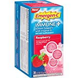 Emergen-C Immune+ System Support Dietary Supplement with Vitamin D (Raspberry Flavor, 30-Count 0.32 oz. Packets)