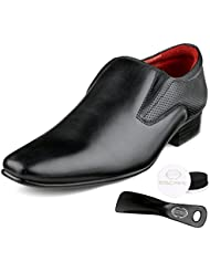 Escaro Men's 100% Genuine Leather Formal Slip On Shoes