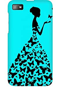 AMEZ designer printed 3d premium high quality back case cover for Blackberry Z10 (sky blue princess)