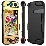 Nintendo Switch Case, Dexnor Nintendo Switch Hard Case Protective Back Cover Anti-Scratch Shock Absorption Video Games Case (Gold)