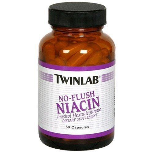 Twinlab Niacin, No-Flush, 50 Capsules