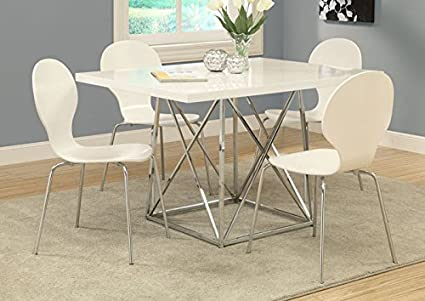 """WHITE BENTWOOD / CHROME METAL 34""""H DINING CHAIRS / 4PCS (SIZE: 17L X 20W X 34H)"""