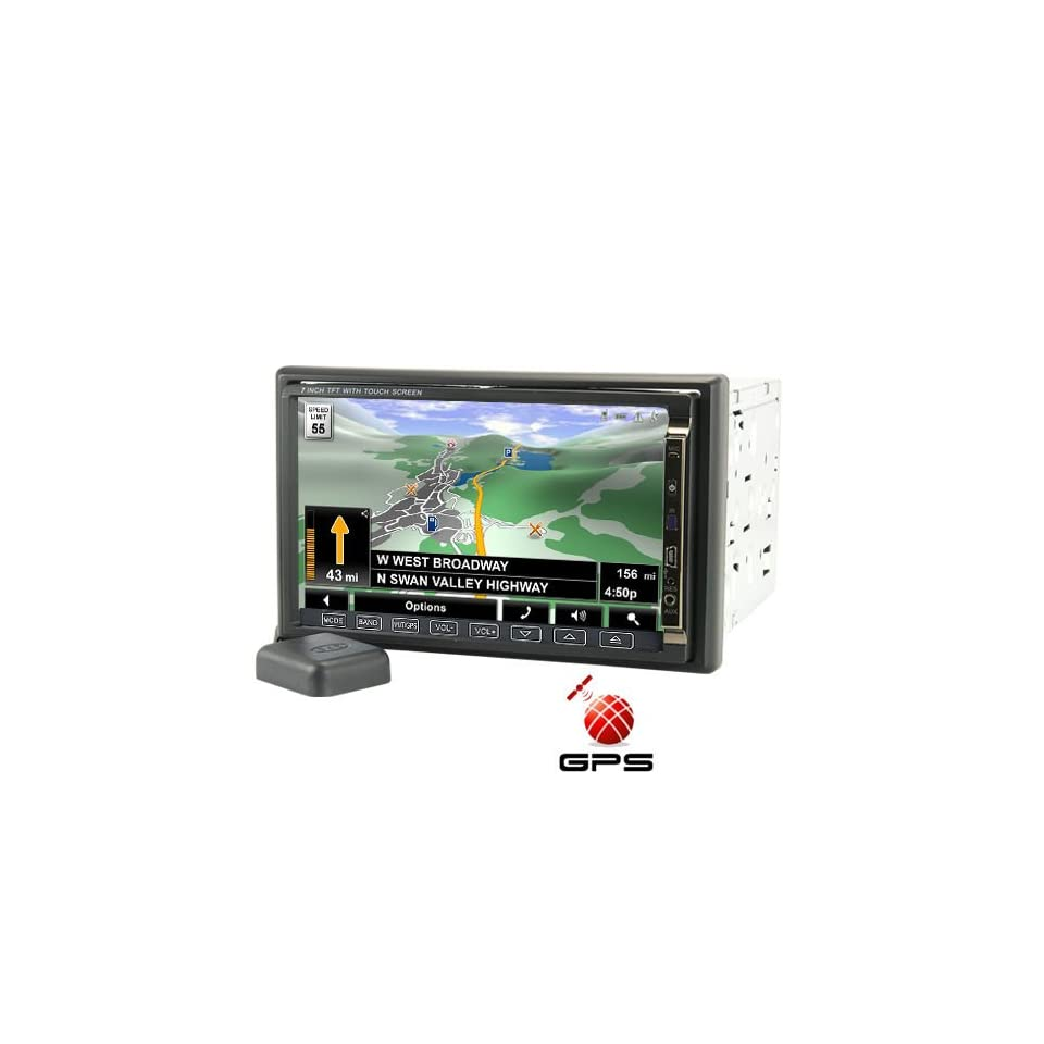 Road King 7 Inch High Def Car DVD Player with GPS and DVB T
