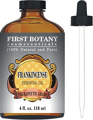 Frankincense Essential Oil With A Glass Dropper - Big 4 Fl. Oz - 100% Pure & Natural With Premium Quality & Therapeutic Grade - Ideal for Aromatherapy & Massages