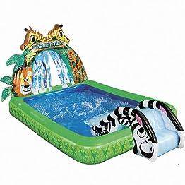 Kiddie Pools From Banzai Safari Slide Pool At Target Backyard Kids
